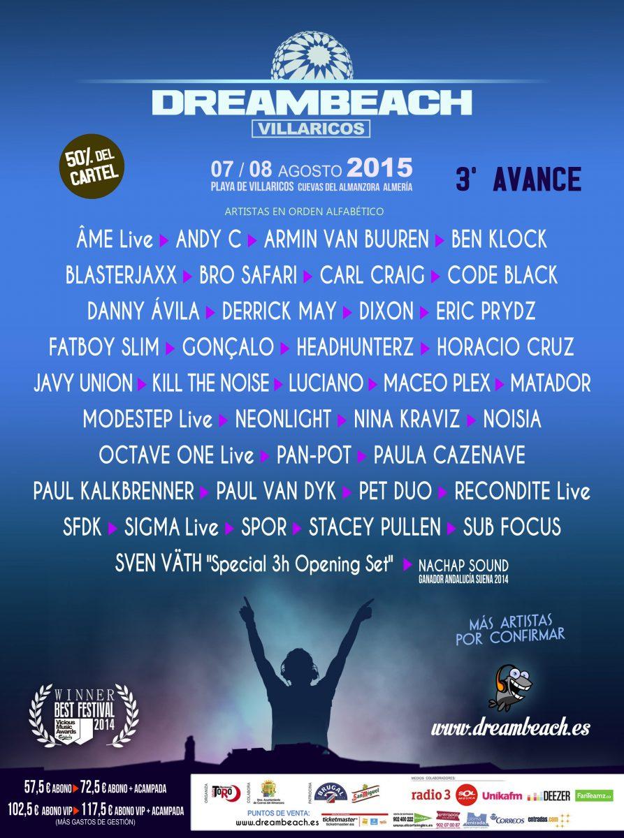 DREAMBEACH2015_AVANCE_terceroCOMPLETO Tercer avance del cartel Dreambeach 2015