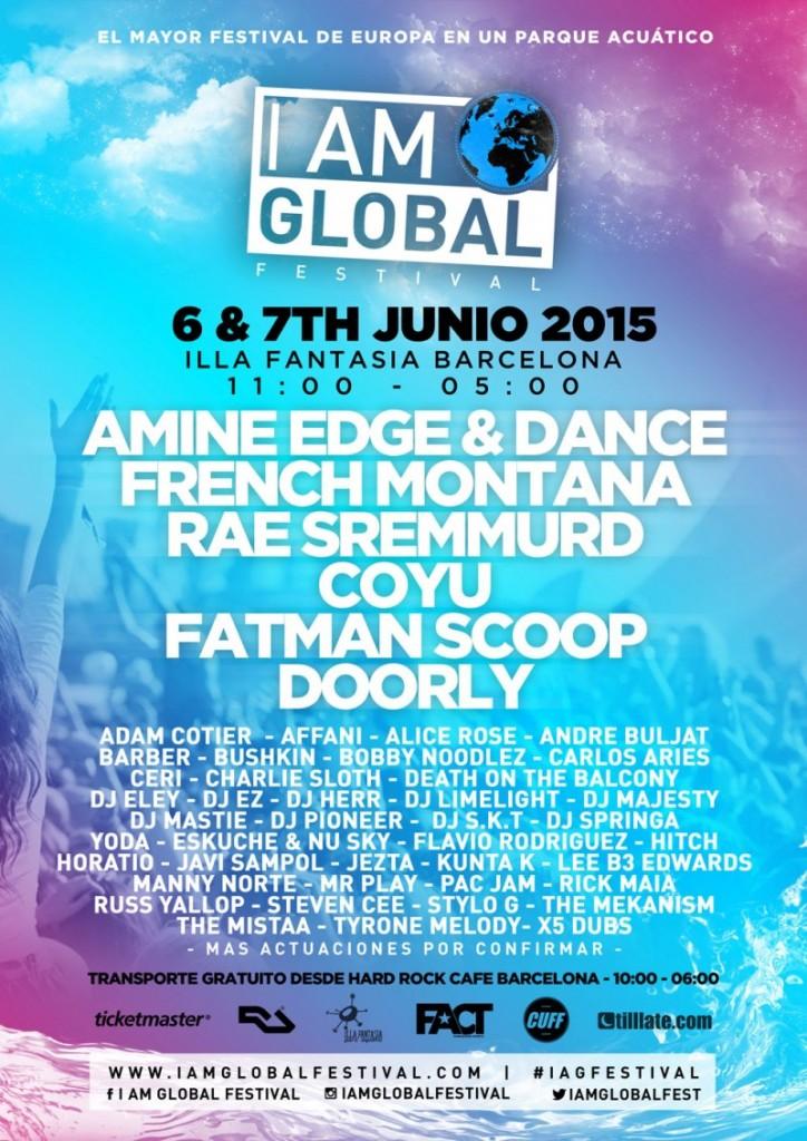 cartel-1-724x1024 I Am Global, el mayor evento musical de Europa en un parque acuático