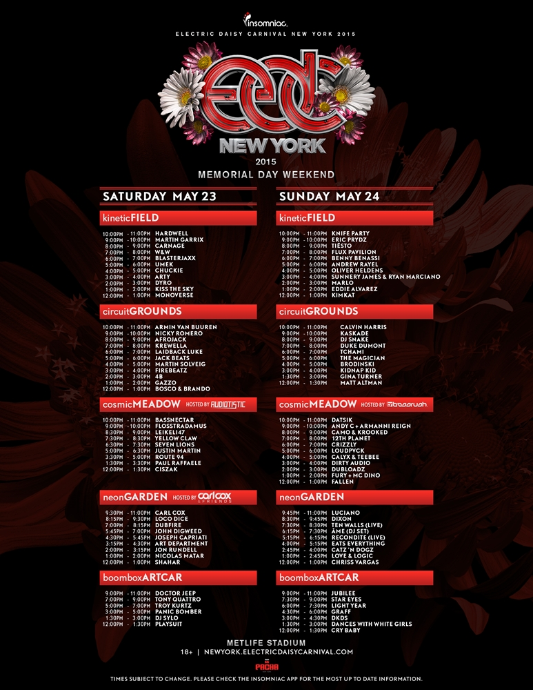 line_up_edc_ny_2015 Este fin de semana vuelve EDC New York 2015 con su cuarta edición