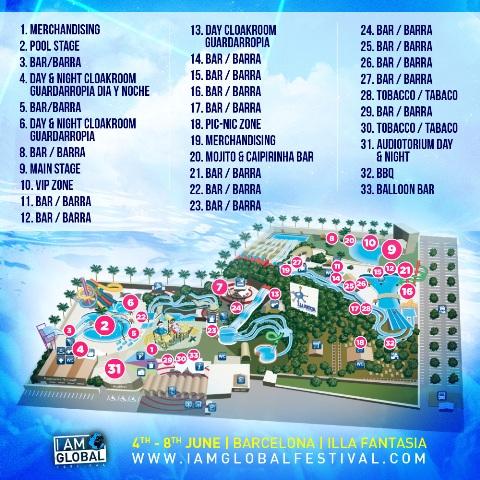 mapa-1 I Am Global, el mayor evento musical de Europa en un parque acuático