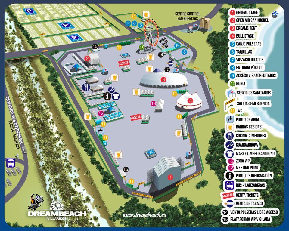 plano-festival-dreambeach-edmred Dreambeach Villaricos: info, horarios y planos