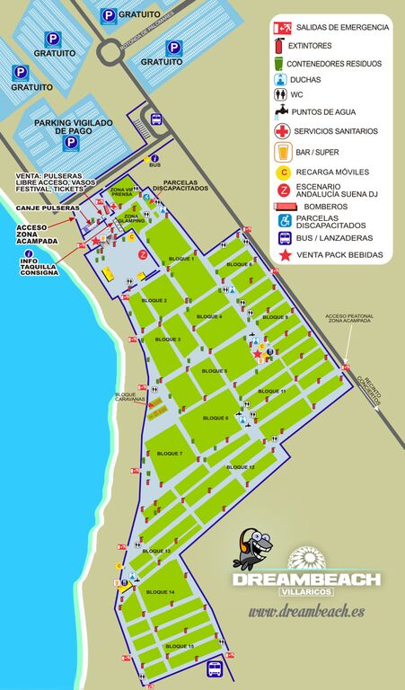 zona-de-acampada-dreambeach-edmred Dreambeach Villaricos: info, horarios y planos