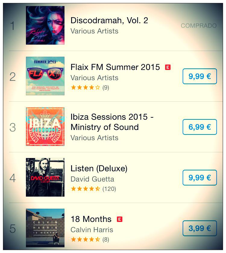 iTunes_Dance Rebeka Brown nº1 en iTunes Dance con Discodramah vol. 2