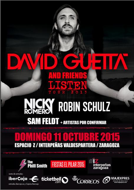 Guettafriends Nicky Romero y Sam Feldt se unen a David Guetta en las Fiestas del Pilar