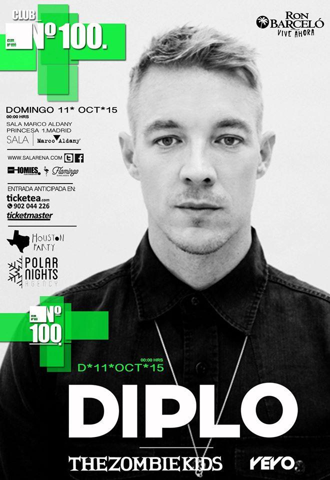 cartel-diplo-club-100-edmred DIPLO en Madrid con Club Número 100
