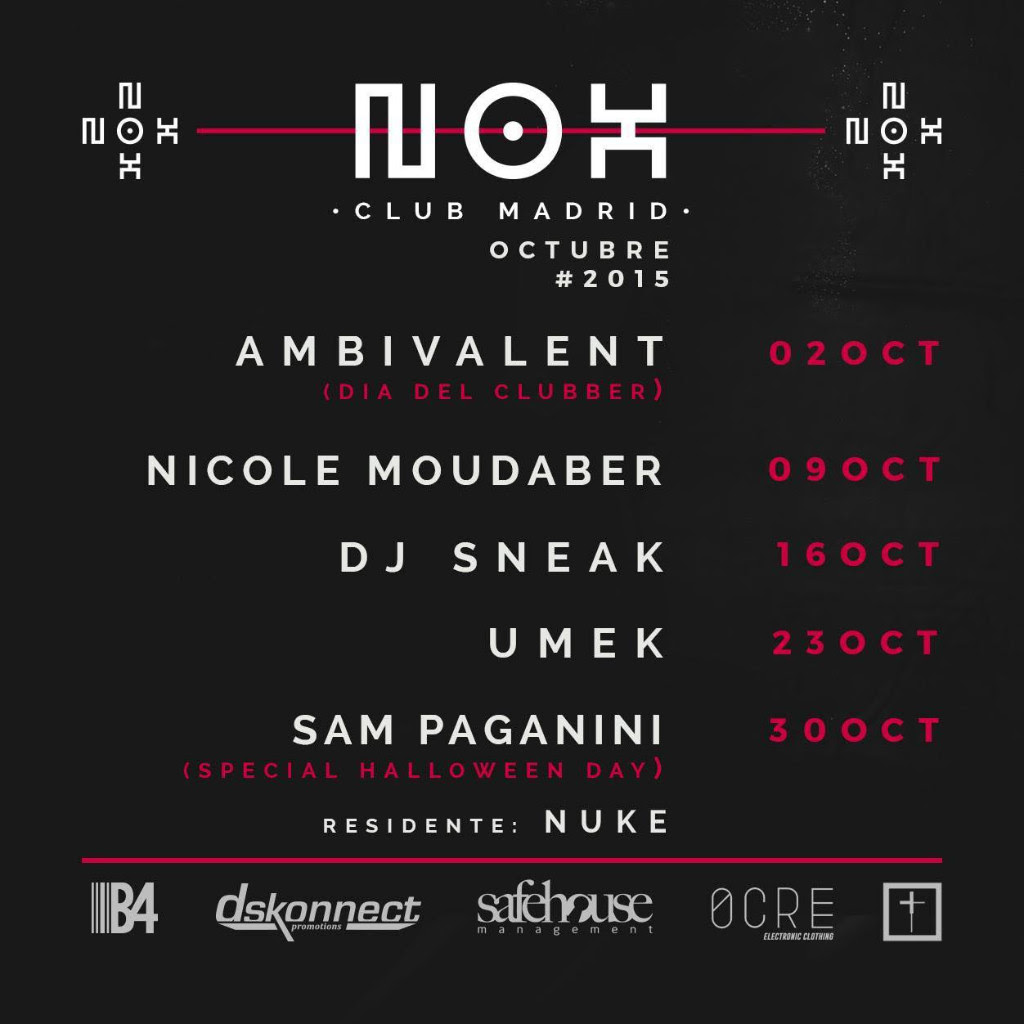 Nos-club-octubre-EDMred Nox Club cierra las fechas de Octubre con Umek y Sam Paganini