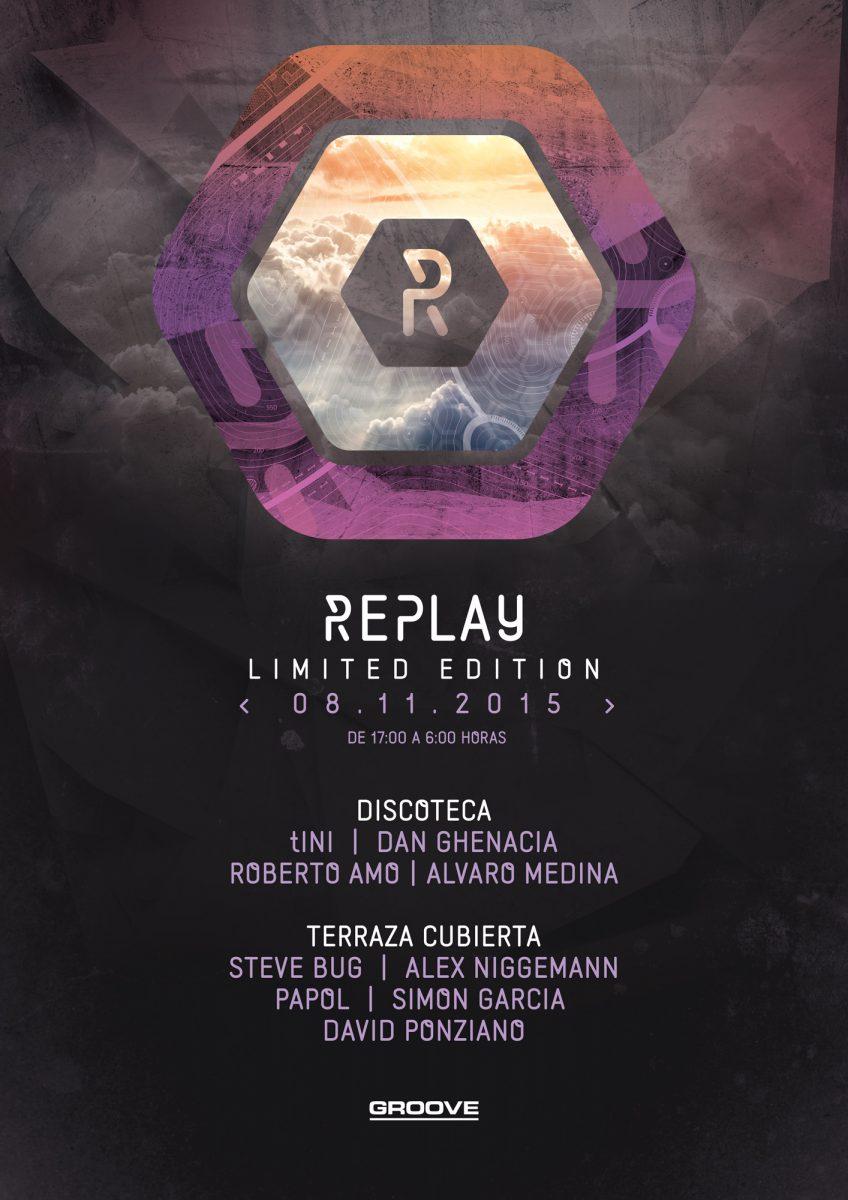 """Replay_Noviembre2015 REPLAY """"limited edition"""" el 8 de noviembre con la terraza cubierta"""