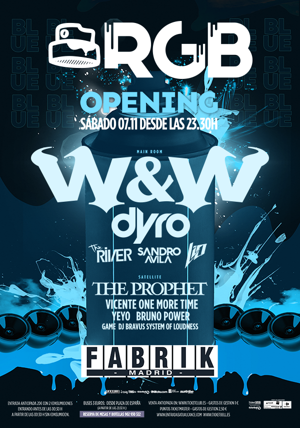 flyer_rgb RGB (FABRIK) - Opening con W&W y Dyro en Madrid