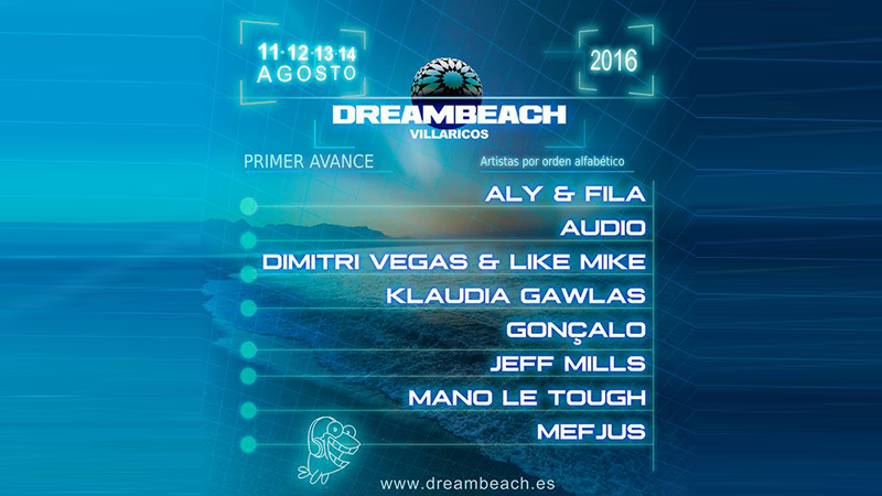 Photo of Primer avance de cartel de Dreambeach 2016