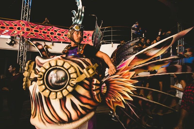 Lion-Fish-Stilt-Walker-shipsomnia-EDMred Shipsomnia, una experiencia Tomorrowland en el mar