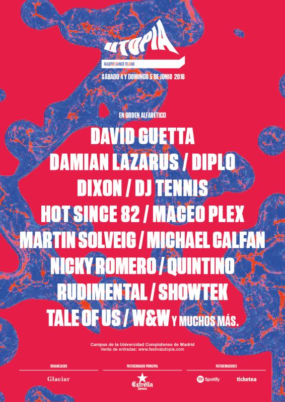 CARTEL_UTOPIA_2016_DJ-Tennis Nuevos confirmados en Utopía Festival
