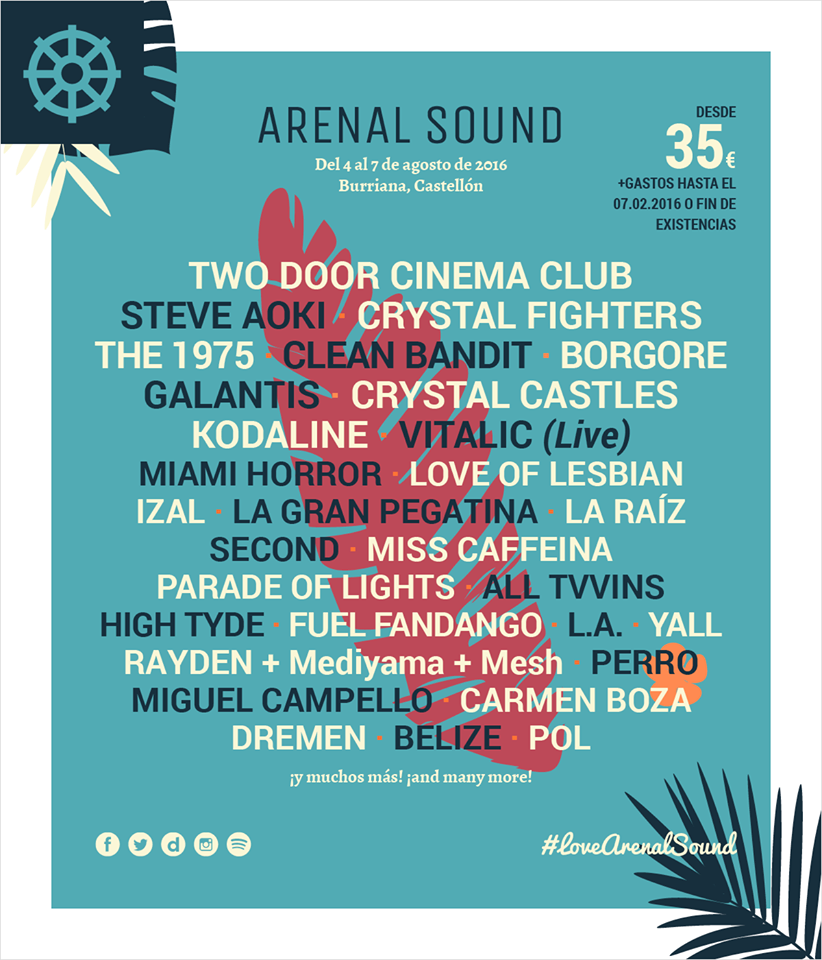 cartel-arenal-sound Arenal Sound 2016 confirma a Galantis