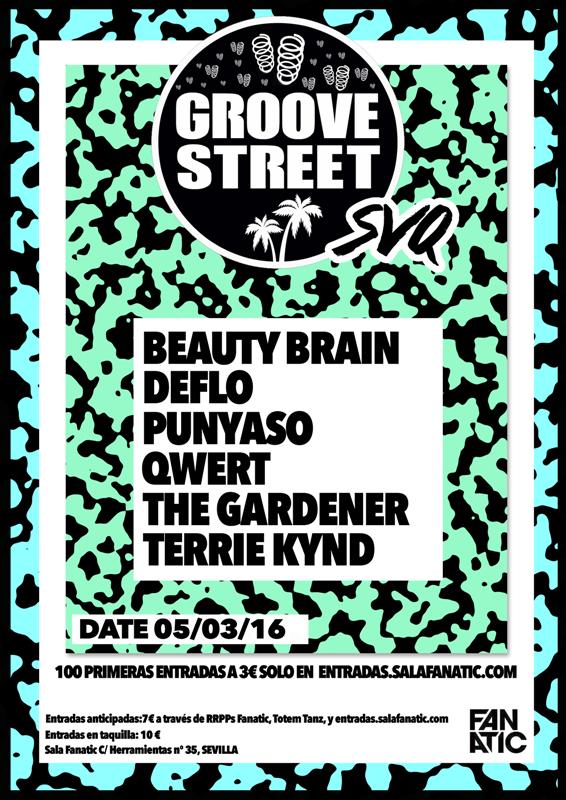 groove-street-sevilla Groove Street con Beauty Brain en Sevilla