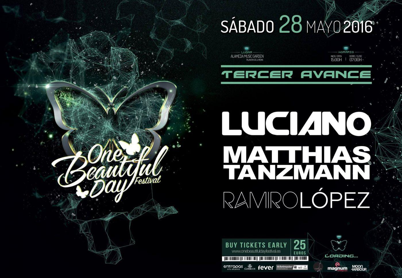 Luciano-EDMred Sorteo One Beautiful Day Festival de Talavera de la Reina