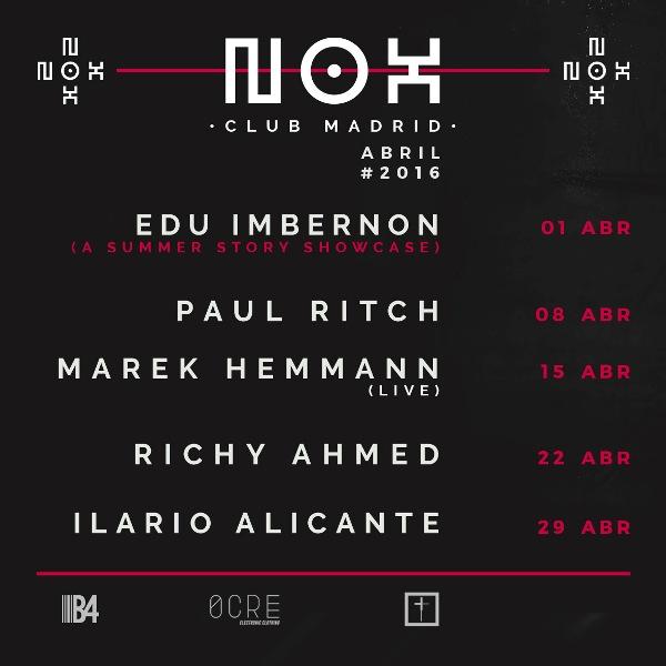 Nox-club-madrid-abril-EDMred Nox Club con Edu Imbernon y Paul Ritch en abril