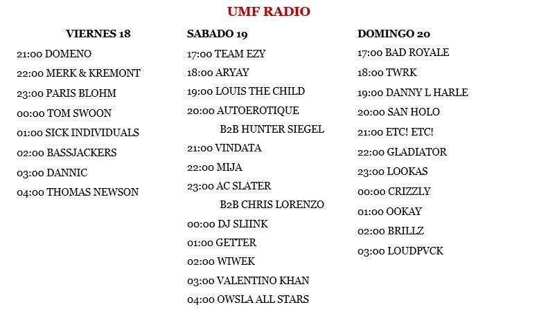 UMF-RADIO Horarios y transimisón del UMF Miami 2016