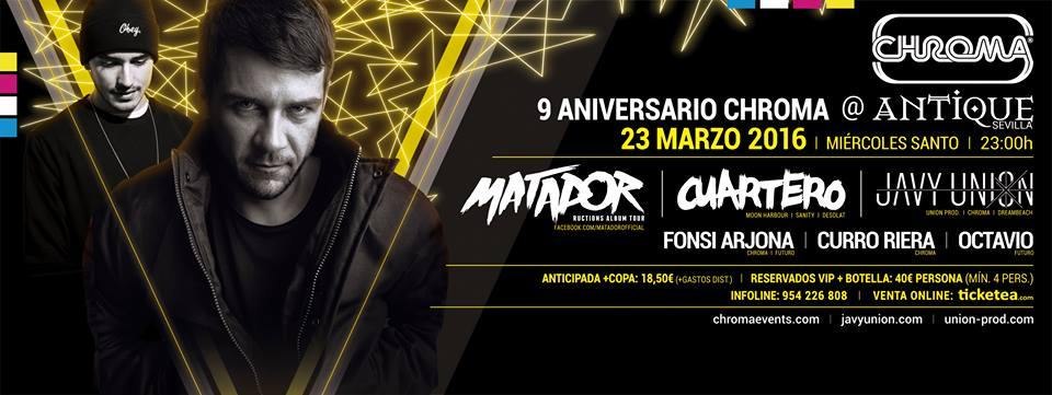 carte-9º-aniversario-chroma-events-EDMred Noveno aniversario de Chroma Events