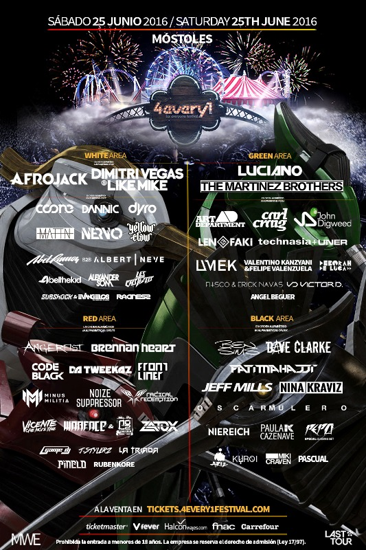 cartel-completo-4EVERY1-EDMred Sorteo 4EVERY1 Festival