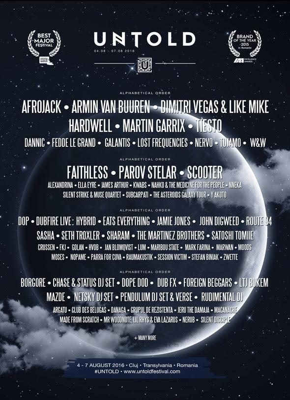 cartel-untold-festival-EDMred El Top 5 DjMag de festival a Transilvania: Untold Festival
