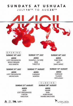 avicii-Ushu-309x450 Avicii anuncia line up para su última residencia en Ibiza