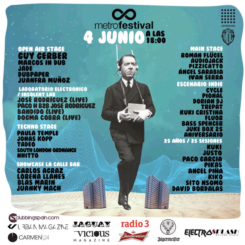cartel-aniversario-metro-festival Ya está aquí el 25º Aniversario Metro Dance Club