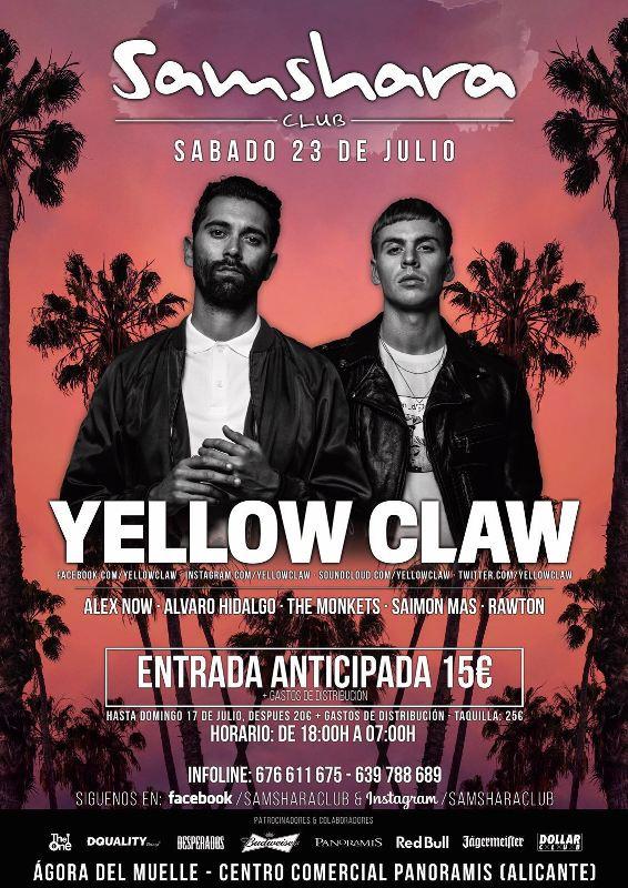 Yellow-Claw-Alicante-EDMred Yellow Claw en Alicante