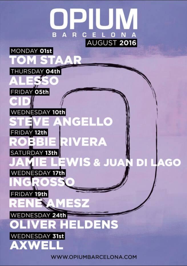 opium-barcelona-cartel-agosto-2016-EDMred Alesso, Ingrosso y Axwell confirmados en WEDJS 2016