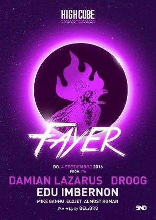 13938086_1253260341384980_3527364024130569457_o-318x450 Droog y Damian Lazarus estarán en la última Fayer del verano