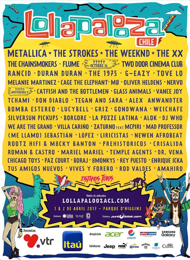 Cartel-Lollapalooza-Chile-2017-747x1024 ¿Daft Punk no volverá?