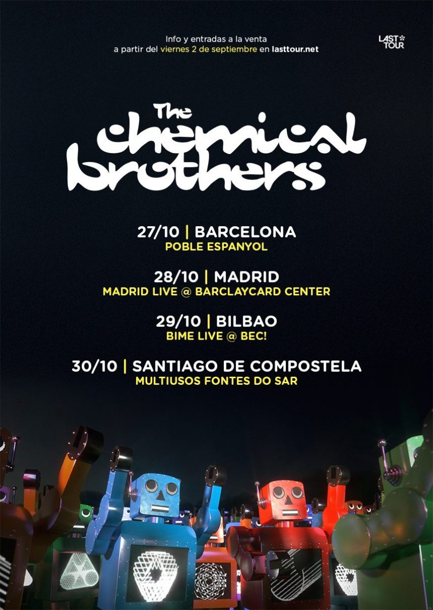 TCB The Chemical Brothers estará de gira por España