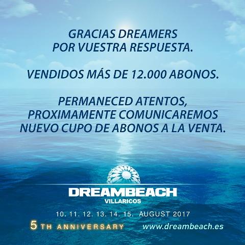 AGOTADOS-6 12.000 abonos de Dreambeach vendidos en su primera tanda