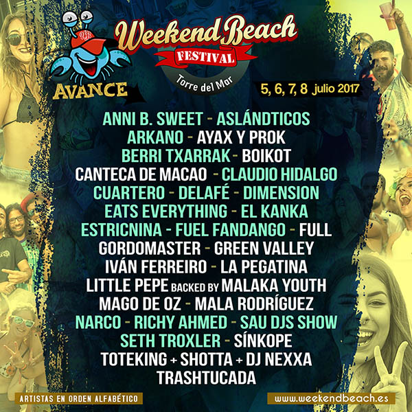 avance-weekend-2017 Nuevas confirmaciones para el Weekend Beach Festival