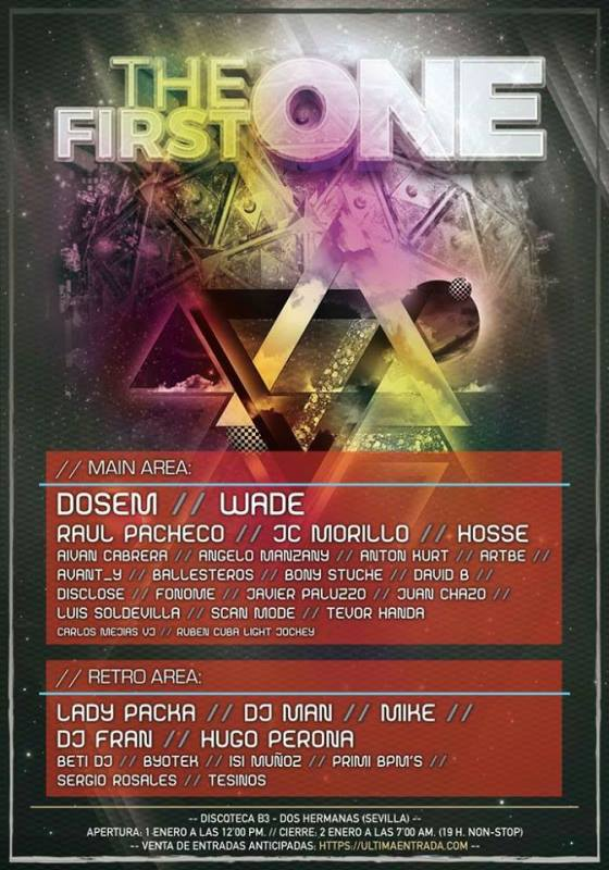 cartel-The-First-one-B3-en-EDMred Sorteo EDMred: Entrada Doble para The First One B3 Sevilla