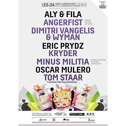 confirmaciones-A-Summer-Story-2017 Eric Prydz, Aly & Fila y Oscar Mulero al A Summer Story 2017