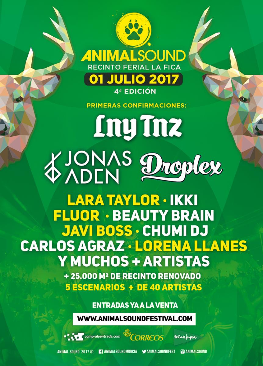CARTEL-CONFIRMACIONES Primer avance para Animal Sound Festival 2017
