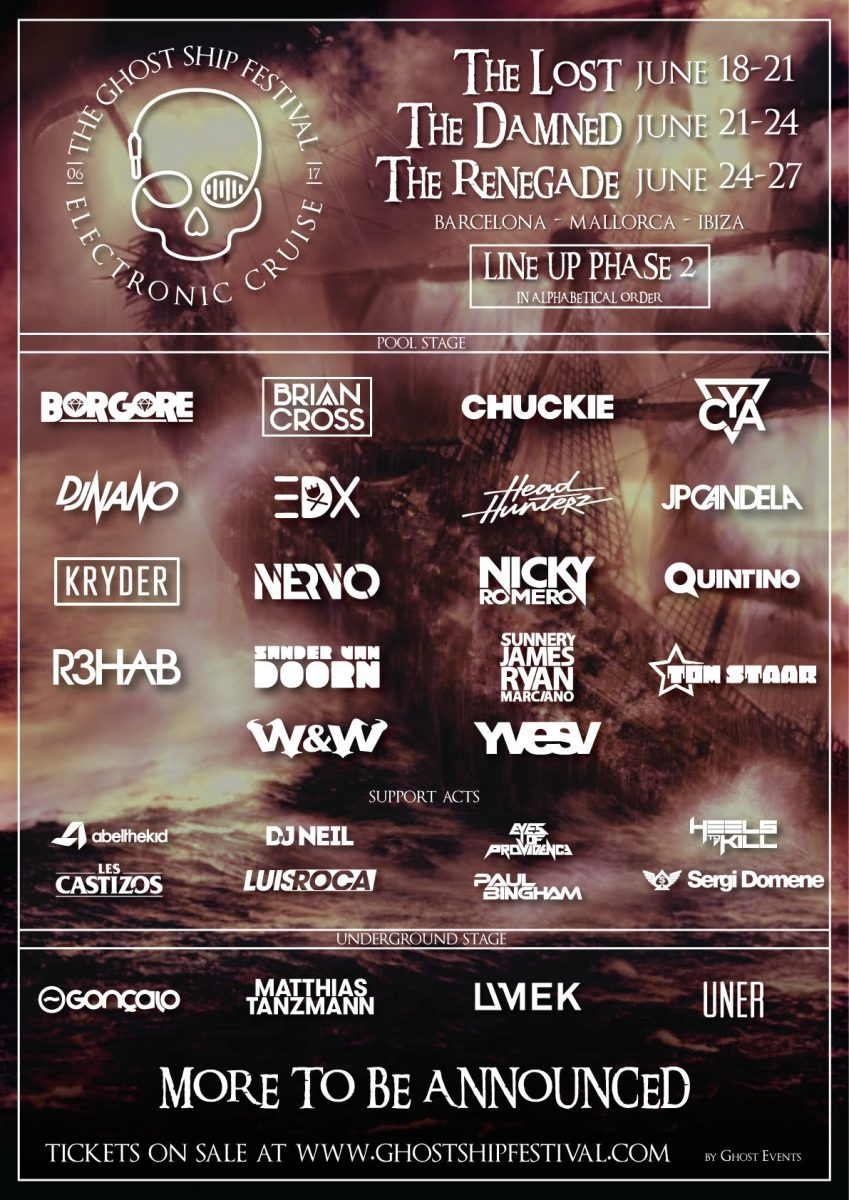 Cartel-Ghost-Ship-phase-2-en-EDMred Ghost Ship: Confirmaciones, - precio y +fechas