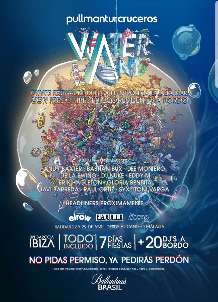 cartel-de-waterland.png Esto es Waterland; festival en alta mar para los amantes de la electrónica