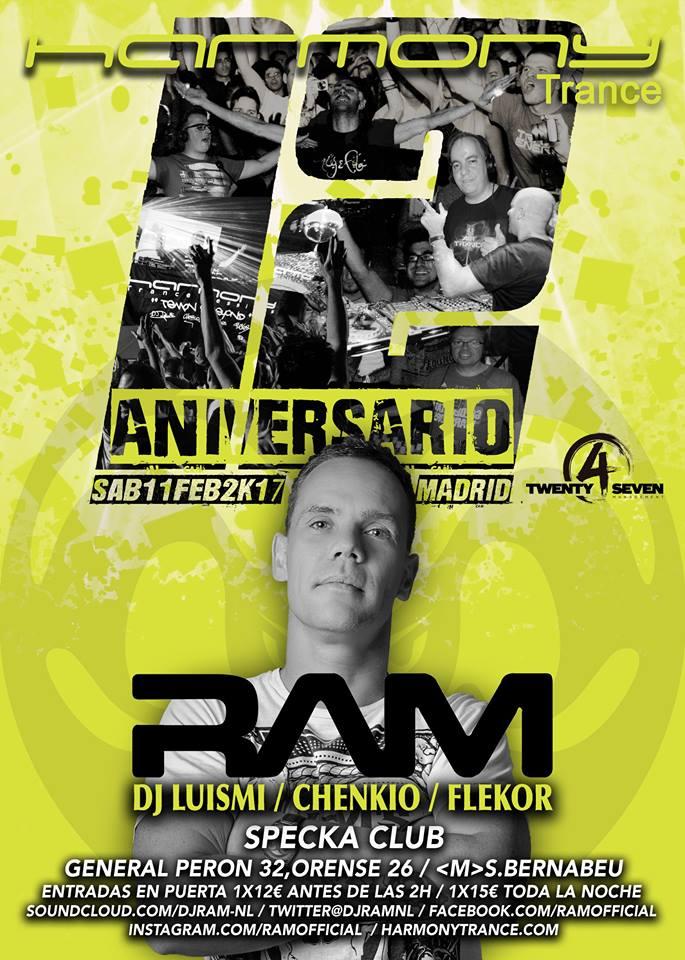 ram-madrid2 RAM volverá a visitar Harmony Trance en febrero