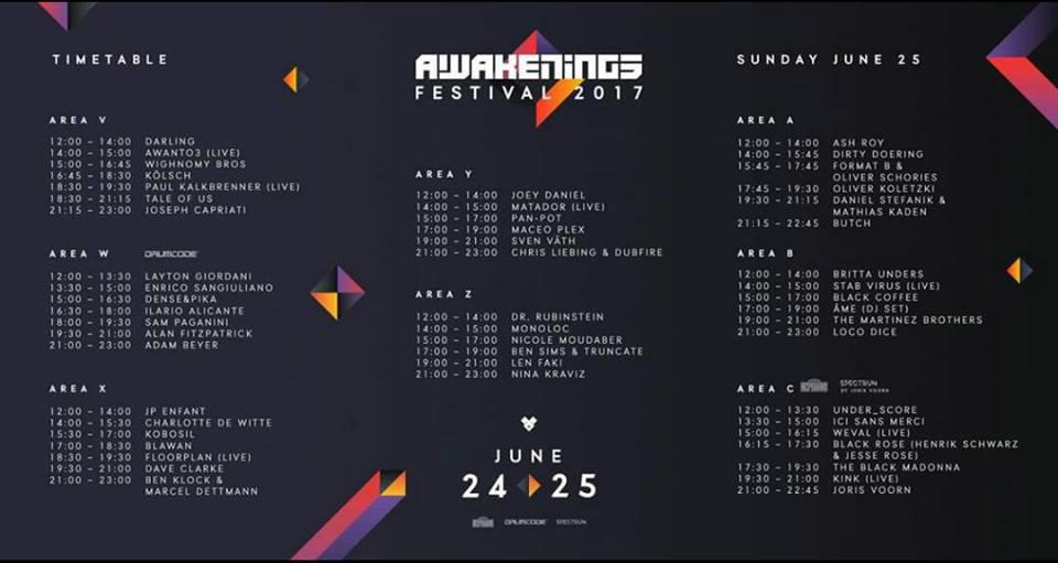 horarios-sabado-awakenings-2017-EDMred Ya sabemos los horarios de Awakenings 2017