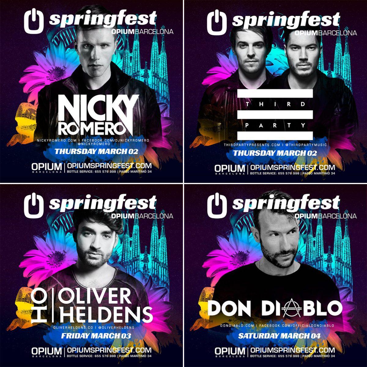 springfest-2017-opium Así queda el espectacular cartel del Springfest 2017