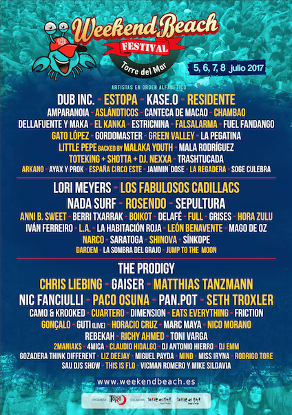 Cartel-Weekend-Beach-Festival-2017-EDMred Matthias Tanzmann entre los confirmados en Weekend Beach Festival