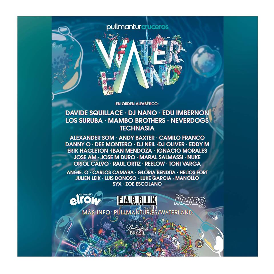 cartel-Pullmantur-Waterland-en-EDMred Conoce el cartel completo para el crucero Waterland de Pullmantur