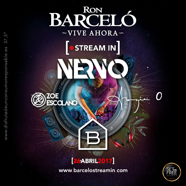 barcelo-streaming-con-Nervo-EDMred Nervo en Madrid y en streaming con Ron Barceló