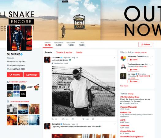 DJ-Snake-Twitter-526x450 DJ Snake vuelve de forma silenciosa a sus redes sociales