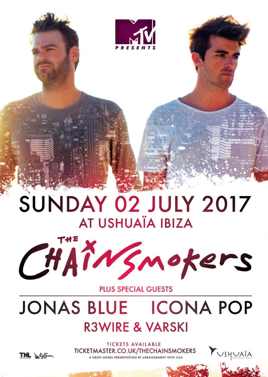 MTV-presents-The-Chainsmokers-Ushuaïa The Chainsmokers en Ibiza de la mano de Ushuaïa y MTV