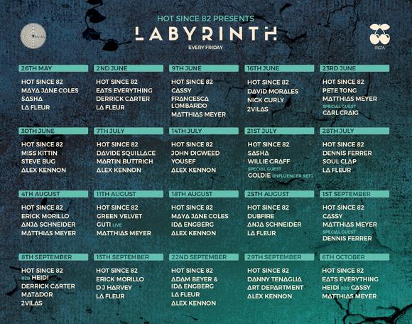 programación-labyrinth-by-hot-since-82-en-pacha-ibiza-EDMred Lineup de Labyrinth by Hot Since 82 en Pacha Ibiza