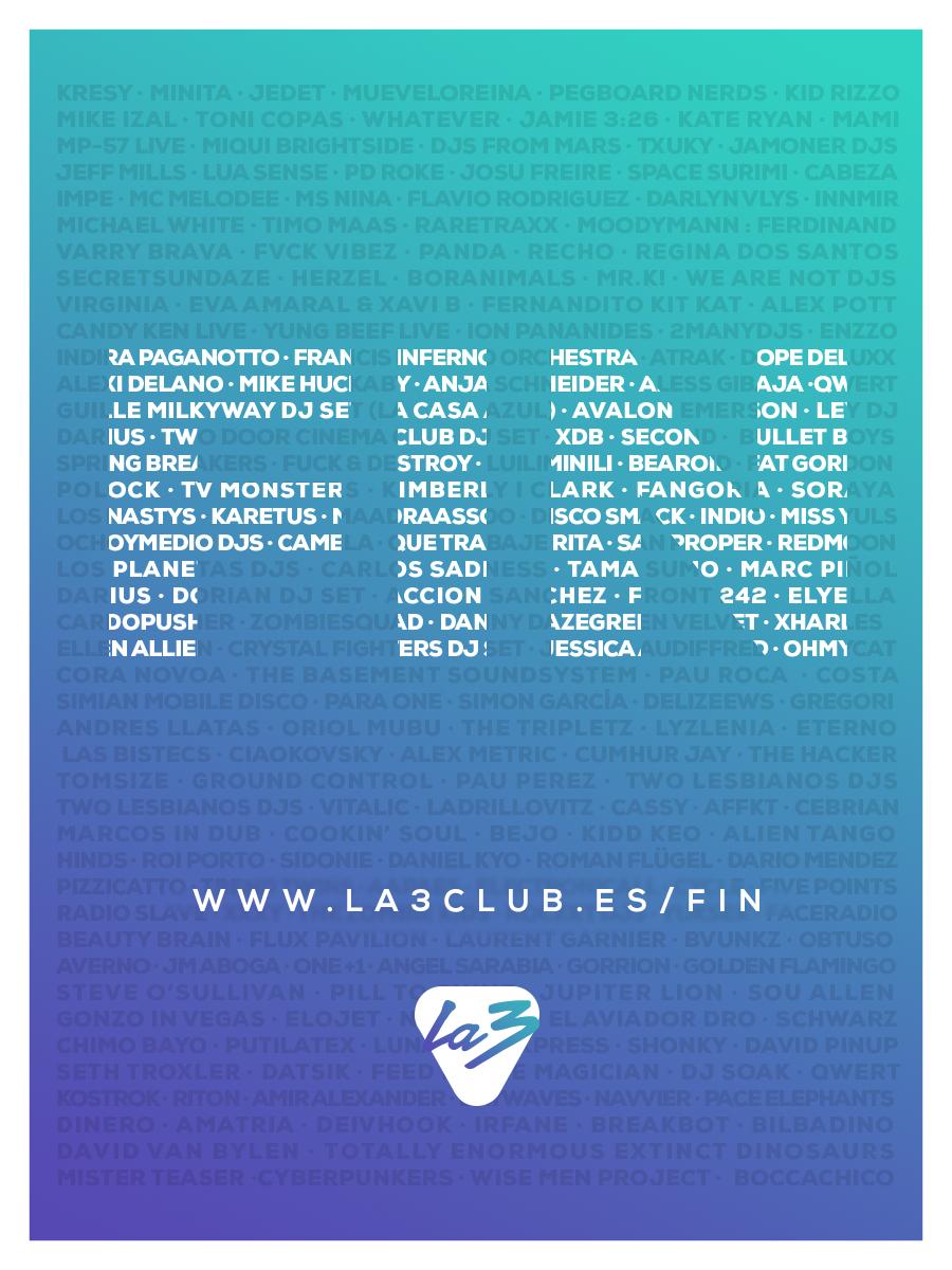 LA3-FIN LA3 cierra sus puertas homenajeando a su público y Djs
