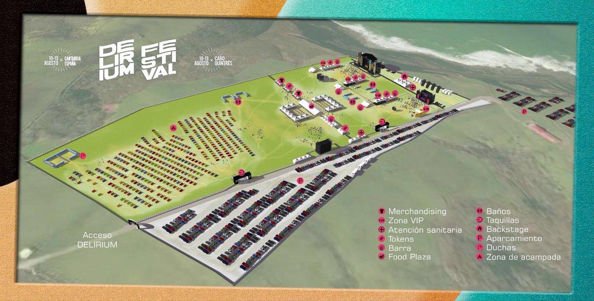 plano-recinto-delirium Delirium Festival, cartel completo y escenarios