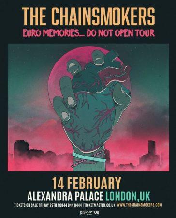 ChainsmokersTourJPG-364x450 The Chainsmokers viajará por Europa y actuará en Alexandra Palace, Londres