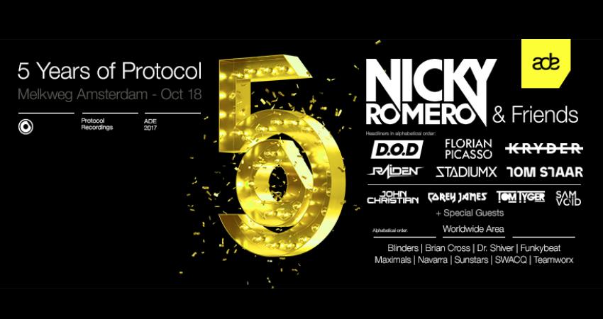 "Photo of Protocol Recordings presenta ""Protocol Lab"" y ""Nicky Romero & Friends""   ADE 2017"